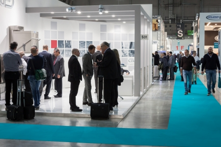 MILAN, ITALY - OCTOBER 18  People visit Host 2013, international exhibition of the hospitality industry on OCTOBER 18, 2013 in Milan