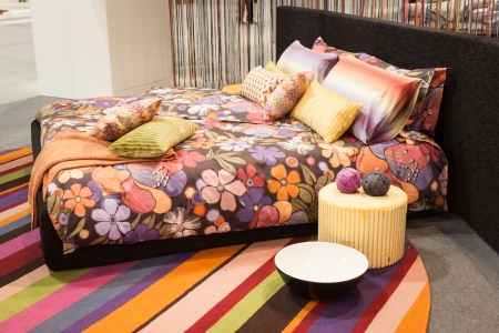 MILAN, ITALY   JANUARY 20 Missoni Bed Linen On Display At HOMI, Home  International