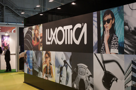 MILAN, ITALY - MARCH 1: Luxottica stand at Mido, international exhibition for optics, optometry and ophtalmology on MARCH 1, 2014 in Milan.