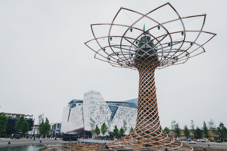 MILAN, ITALY - MAY 1: The Tree of Life at Expo, universal exposition on the theme of food on MAY 1, 2015 in Milan.