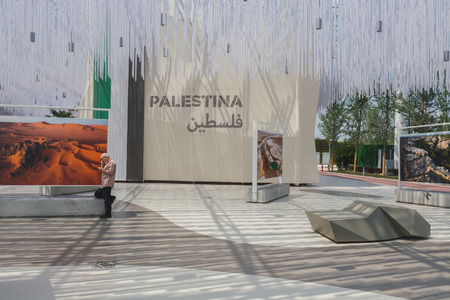 zones: MILAN, ITALY - JUNE 19: Inside Arid Zones Cluster at Expo, universal exposition on the theme of food on JUNE 19, 2015 in Milan. Editorial