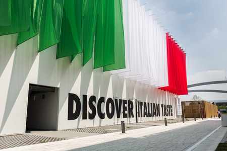 MILAN, ITALY - AUGUST 3: Italian taste pavilion at Expo, universal exposition on the theme of food on AUGUST 3, 2015 in Milan.