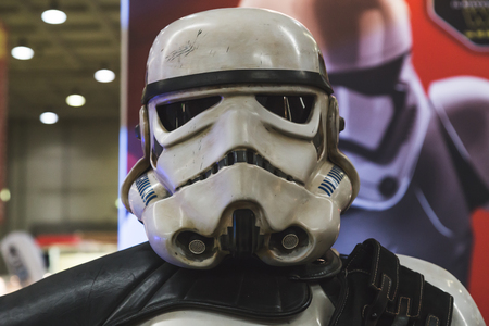stormtrooper: MILAN, ITALY - NOVEMBER 20: Stormtrooper at G come giocare, trade fair dedicated to games, toys and children on NOVEMBER 20, 2015 in Milan. Editorial