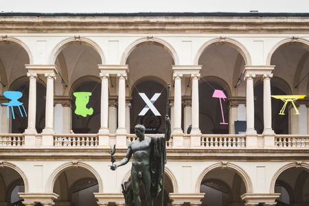 beautiful location: MILAN, ITALY - APRIL 15: Beautiful location hosting Fuorisalone, set of events distributed in different areas of the town during Milan Design Week on APRIL 15, 2016 in Milan.