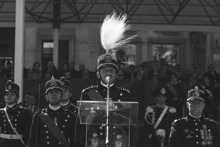 swear: MILAN, ITALY - MARCH 19: Teulie Military School cadets take part in the traditional oath ceremony on MARCH 19, 2016 in Milan.