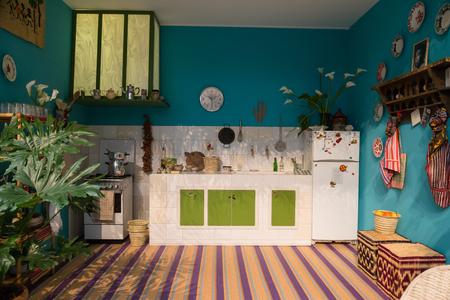 MAILAND, ITALIEN - 7. APRIL: Corian Cabana Club Installation bei Fuorisalone, Satz von Veranstaltungen in verschiedenen Bereichen der Stadt während der Mailänder Designwoche am 7. April 2017 in Mailand. Editorial