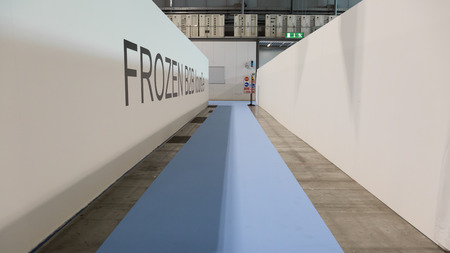 MILAN, ITALY - MAY 9: Empty corridor at Tuttofood, world food exhibition on MAY 9, 2017 in Milan. Editorial