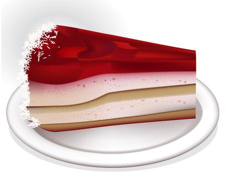 porcion de torta: Pastel de cumplea�os
