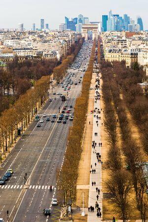 champs elysees: Champs-Elysees La Defense landscape