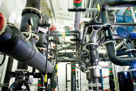 .boiler room on the technical floor of the office center.