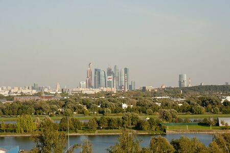 moscow city: view of the business center Moscow City. Stock Photo