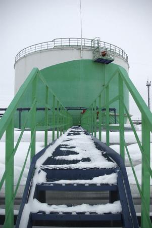 siberia: oil storage in Siberia, in the far north