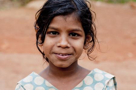 indian village: Indian village girls face Editorial