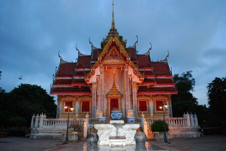 buddhist temple: ancient built Buddhist temple in Bangkok, Thailand Stock Photo