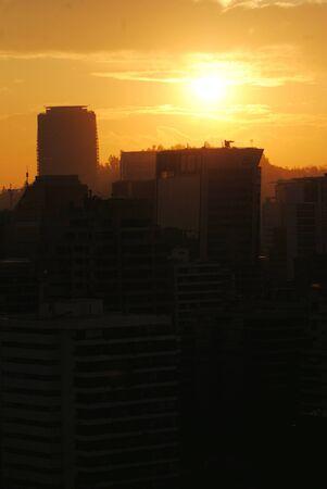 sunshines: Sunset at Santiagp Chile