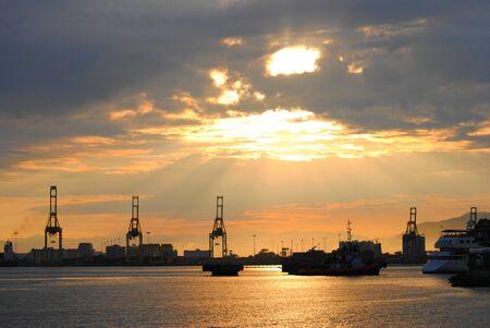 sunshines: Sunset at Penang island Malaysia Stock Photo