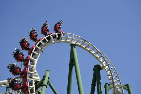 thrill: amazing roller coaster in Santiago, Chile