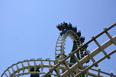 thrilling: amazing roller coaster in Santiago, Chile