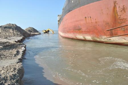 aground: Ran aground oil tanker in Thailand