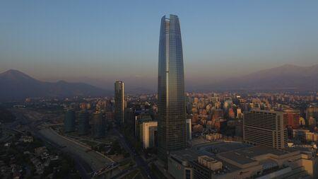 Impresionante puesta de sol en Santiago, Chile