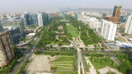santiago: Aerial view at a park in Santiago, Chile
