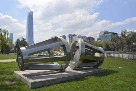man made: Man made Sculptures at a park in Santiago, Chile