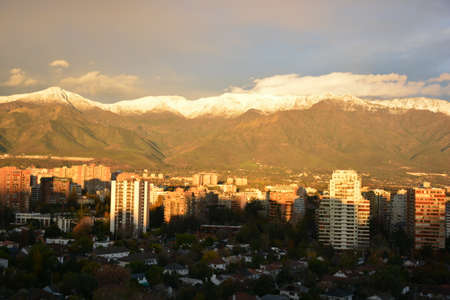 andes: Mount Andes in Santiago chile Stock Photo