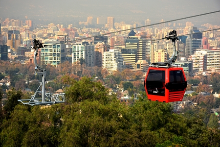 cable car: cable car in chile