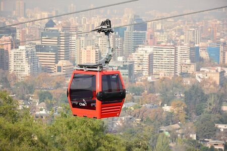 cable car: cable car in santiago chile Stock Photo