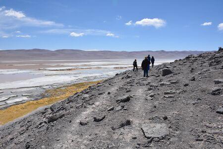 Amazing Landscape in Atacama Desert Chile Stock Photo