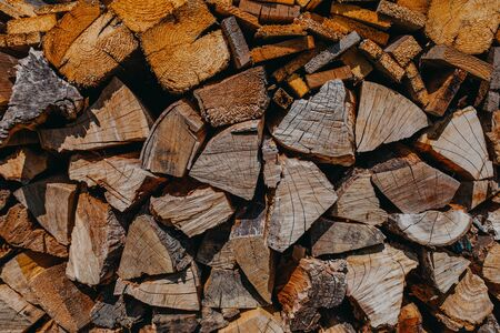 stack of firewood background