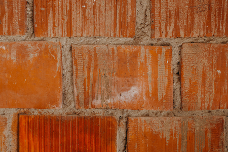 orange brick stone wall background