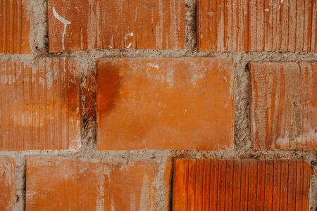 orange brick stone wall background