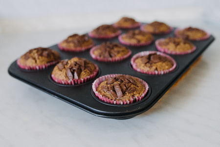group of carob muffins