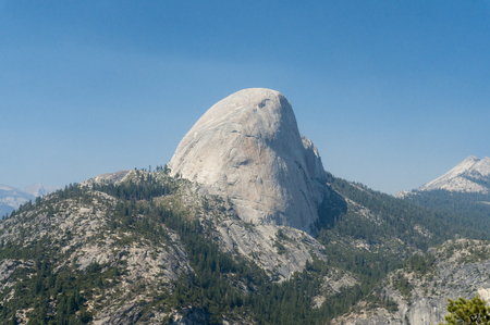 john muir trail: Rear View of Half Dome from the John Muir Trail
