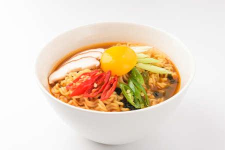 instant food. Spicy noodles.