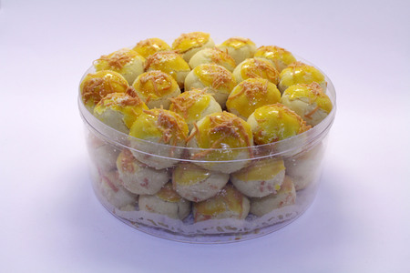 Nastar, a typical Indonesian or Southeast Asian Pineapple tart cake. Probably influenced by Dutch cuisine. Imagens