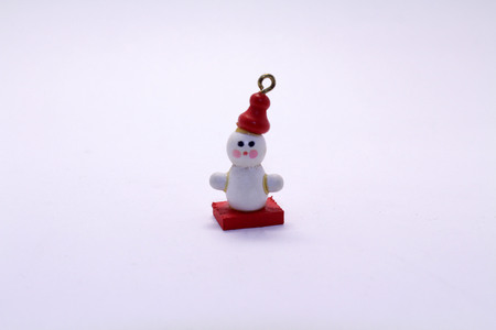 The christmas snowman doll miniature as a decoration. Cute!