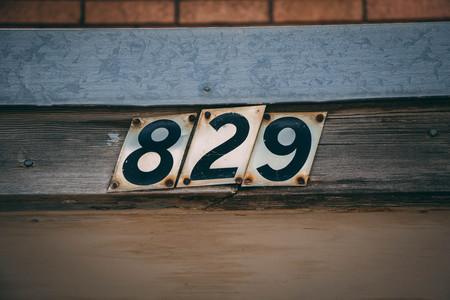 Address Numbers on an Old Building