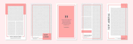 Slides Abstract Unique Editable Minimal Social Media Banner Red Template. For personal & business.Anyone can use this design easily. Promotional web banner social media post feed. Vector Illustration 向量圖像