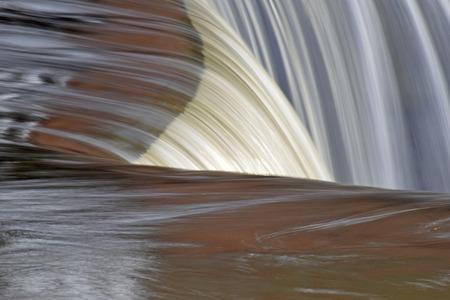 tripple: A tripple angled waterfall Stock Photo