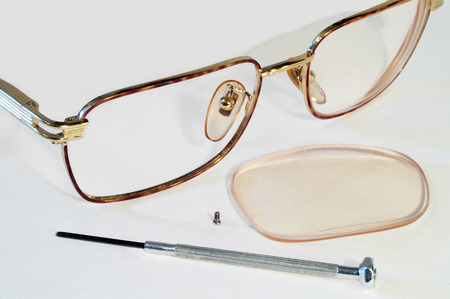 rimless: Parts Of Glasses Stock Photo