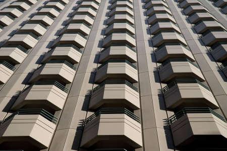 apartment: apartment balconies on skyscraper