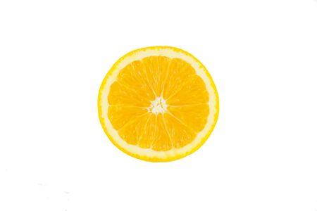 over white background: Slice orange isolated on over white background