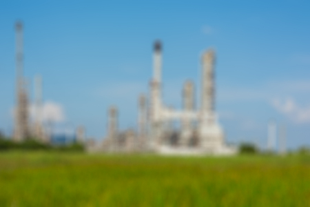 industry power: Blur Petrochemical industry power station in afternoon of Thailand