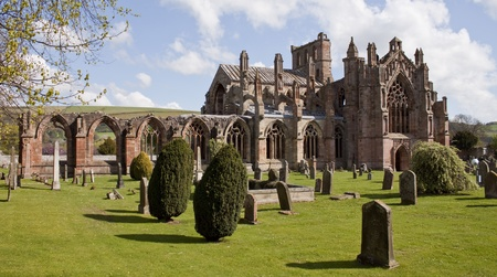 Abbey in the Scottish Borders Stock Photo