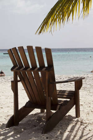 Empty chair in the caribbean