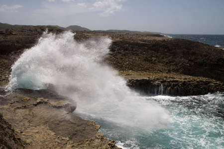 boca shete national park curacao sea inlet called the pistol Stock Photo