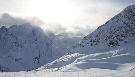 top of mountain: Alps in Solden (Austria)