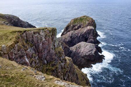 wrath: Rocks in ocean, Cape Wrath, Scotland